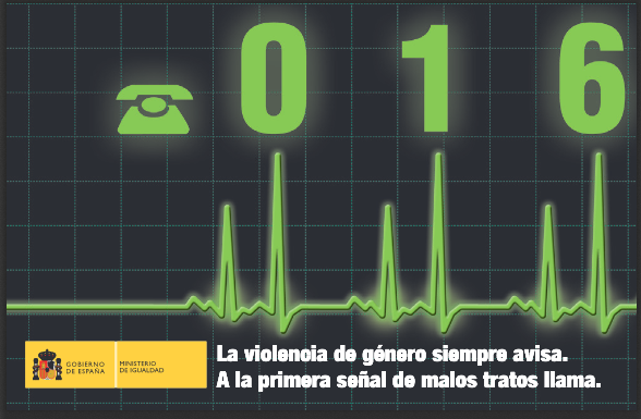 Tlf. 016 - Ruidos por Violencia de Género / Doméstica